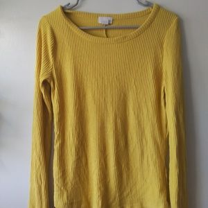 Yellow old navy, ribbed sweater
